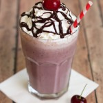 Roasted Cherry Milkshakes #IceCreamWeek