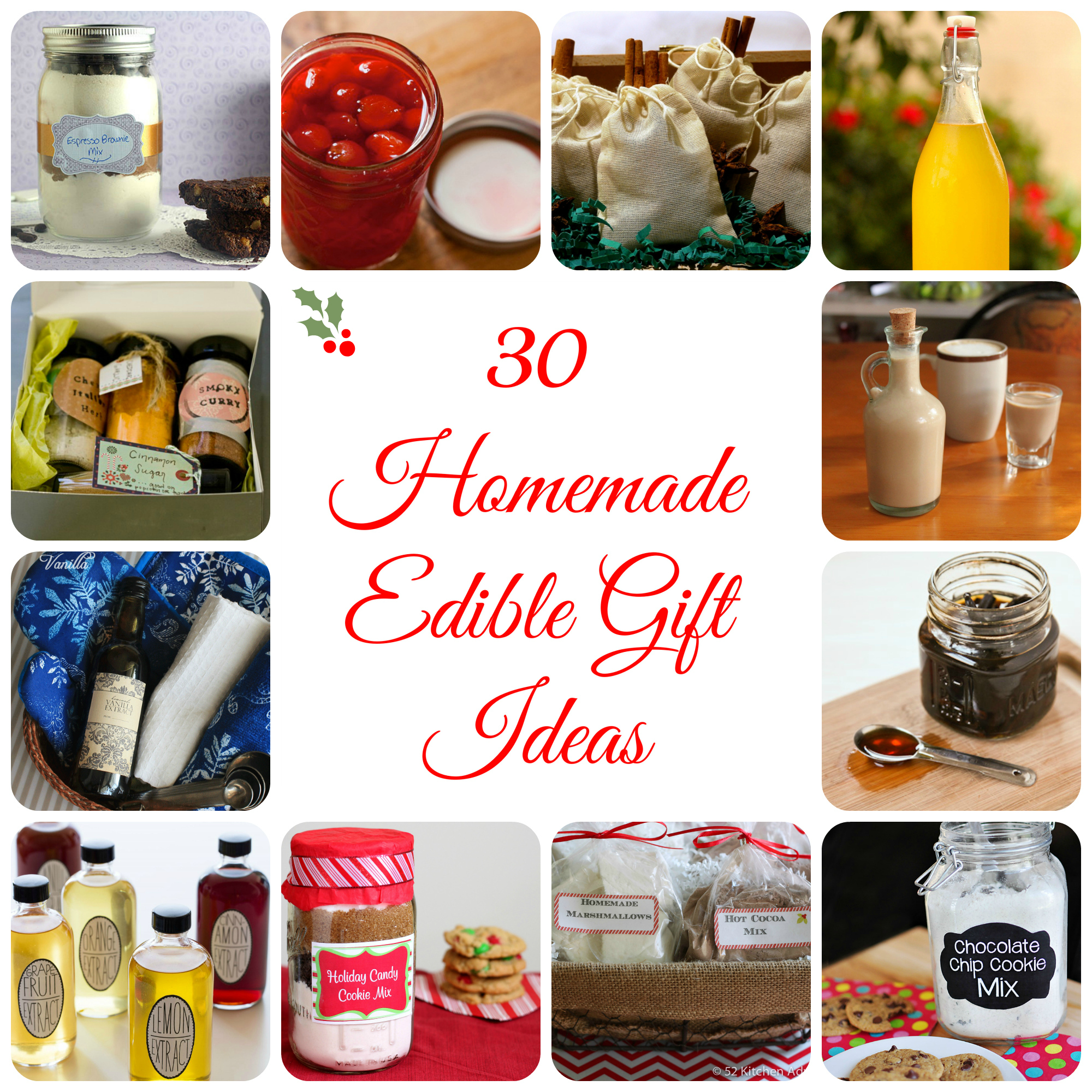 30 Homemade Edible Gift Ideas