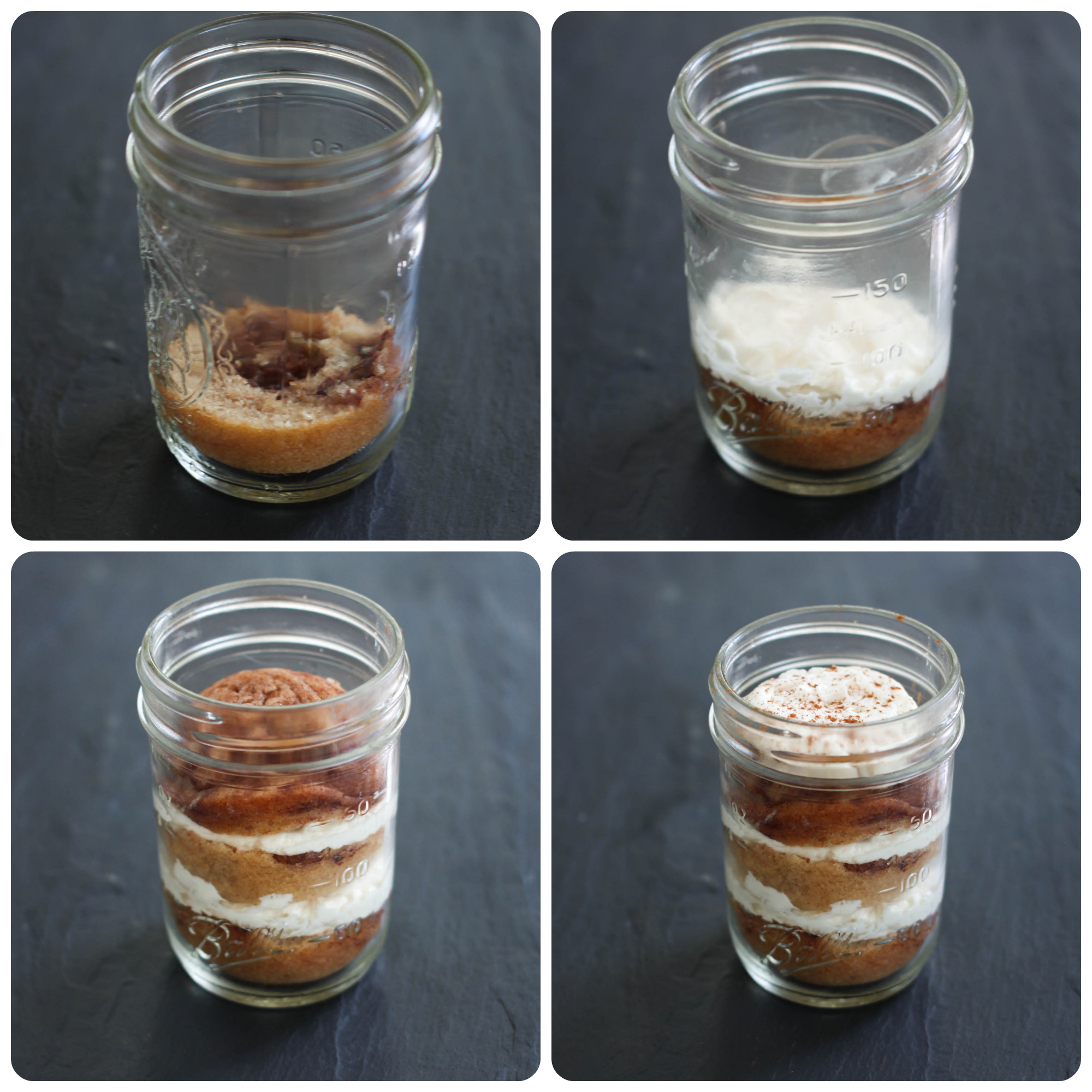 How to assemble a cupcake in a jar