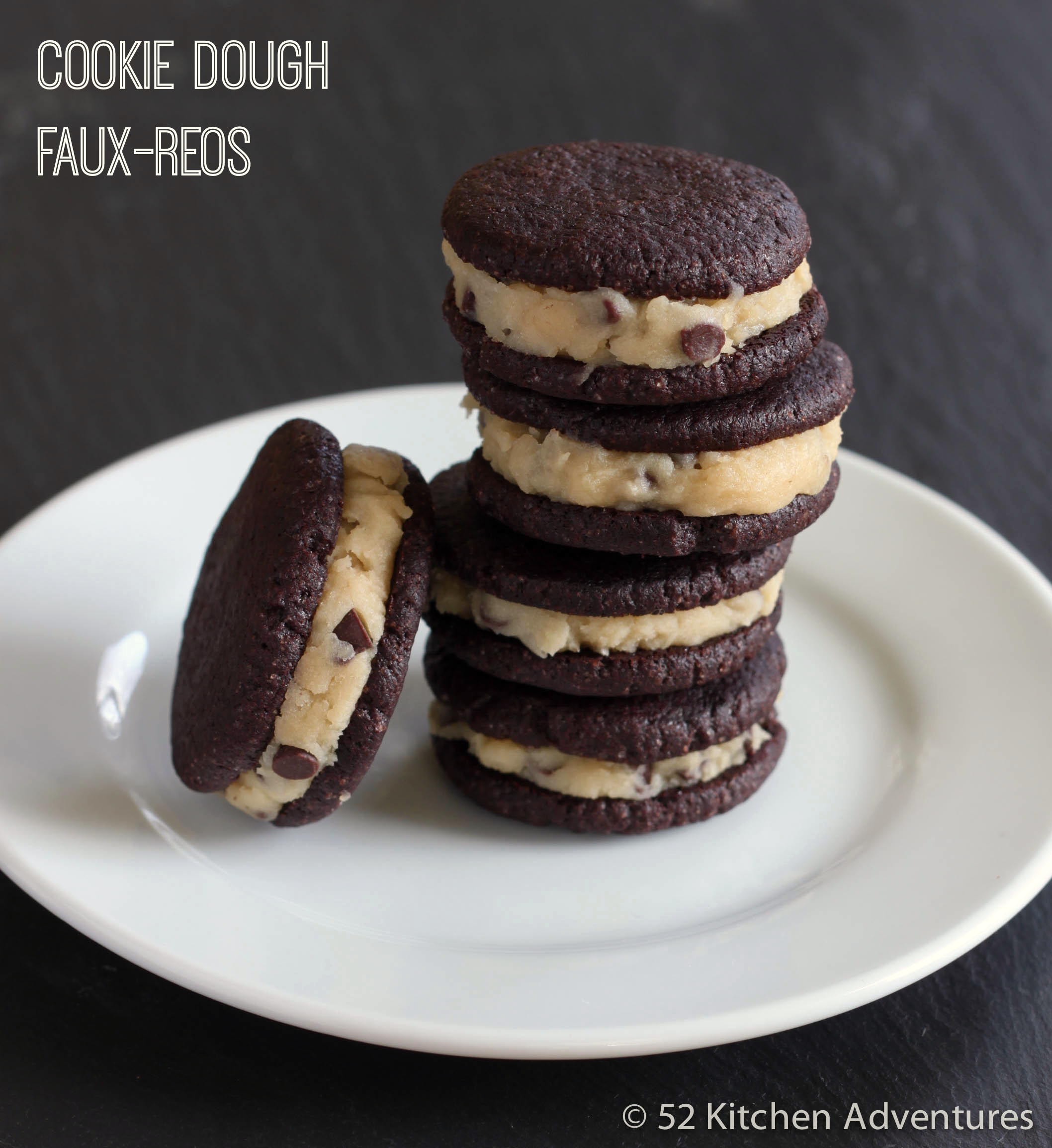 DIY Cookie Dough Oreos