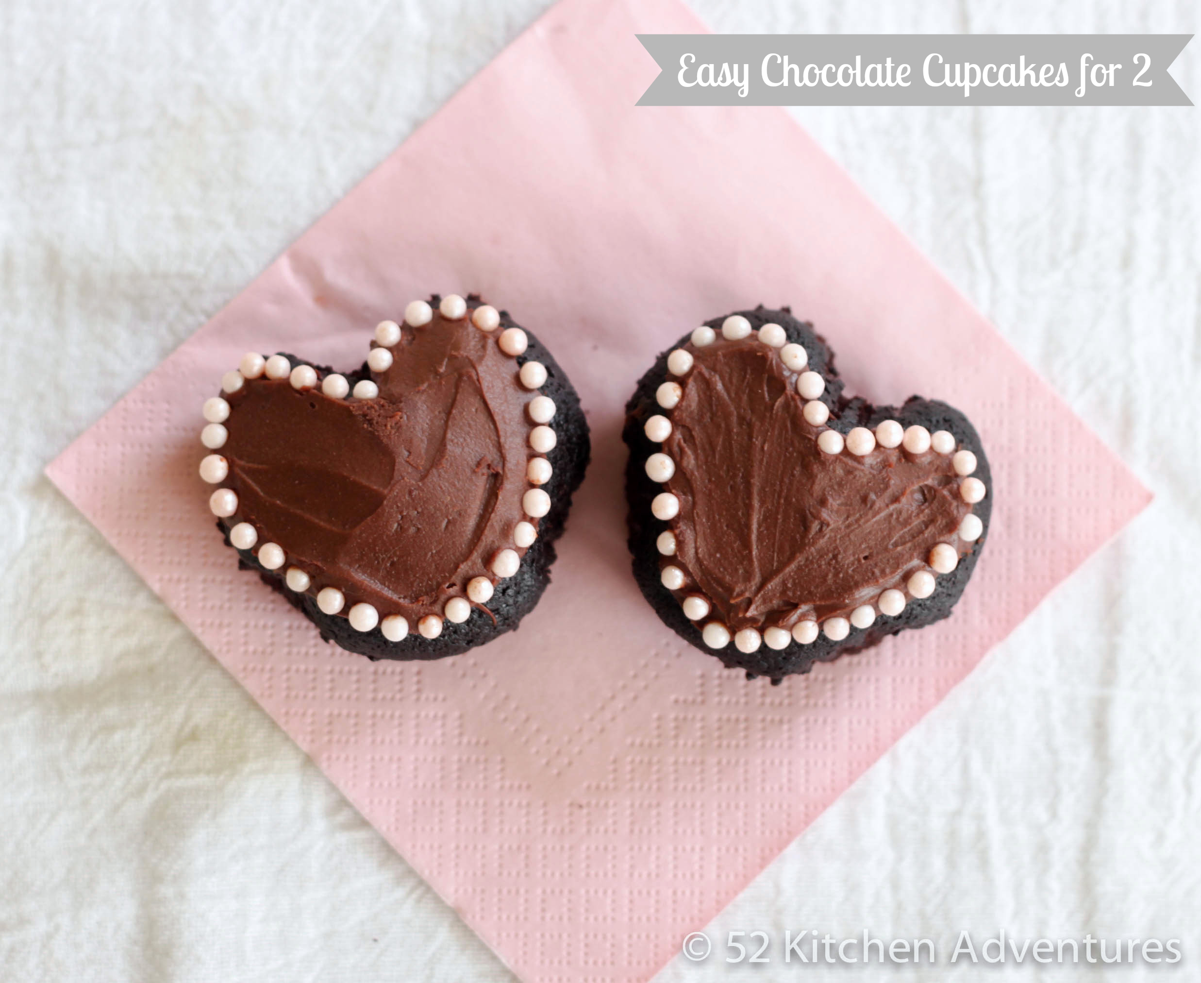 Easy chocolate cupcakes for 2