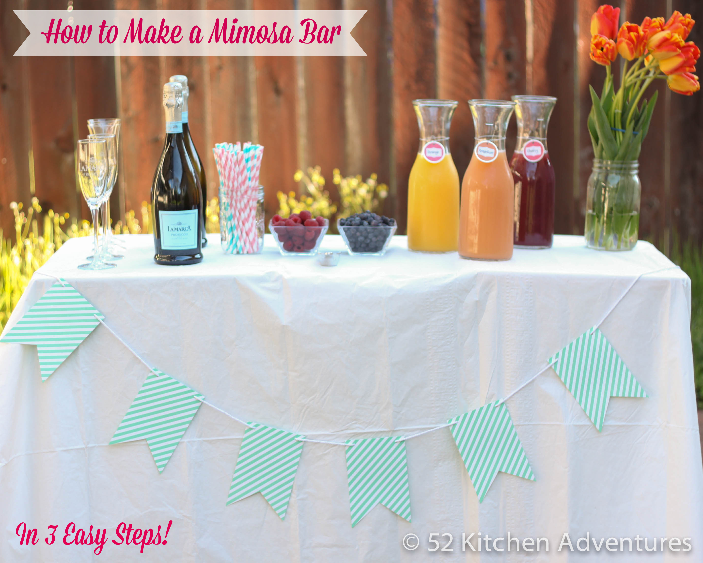 How to Make a Mimosa Bar in 3 Easy Steps
