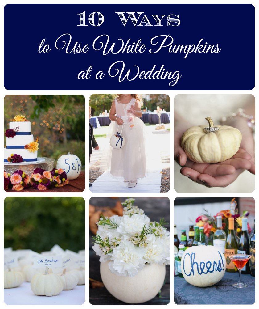 10 Ways to Use White Pumpkins at a Wedding