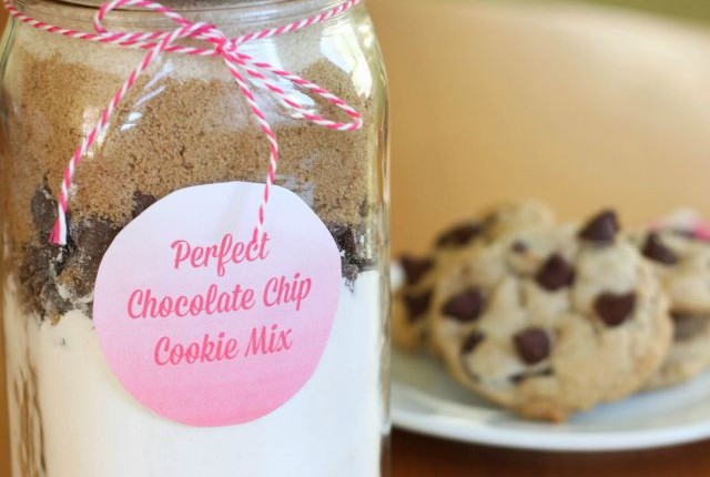 DIY perfect chocolate chip cookie mix featured