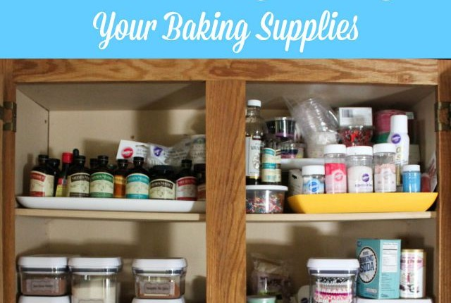 How to organize baking supplies featured