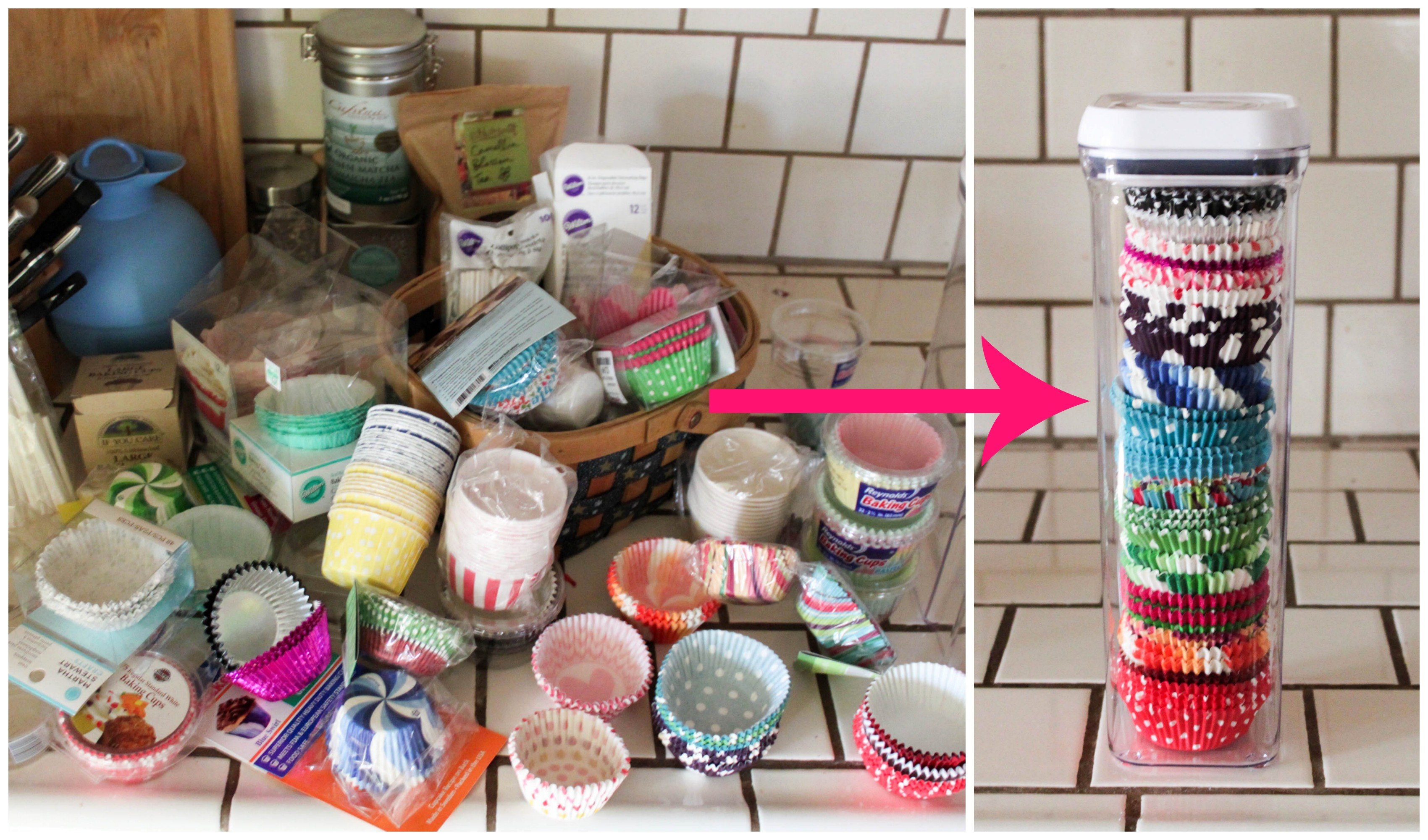 How to organize cupcake liners