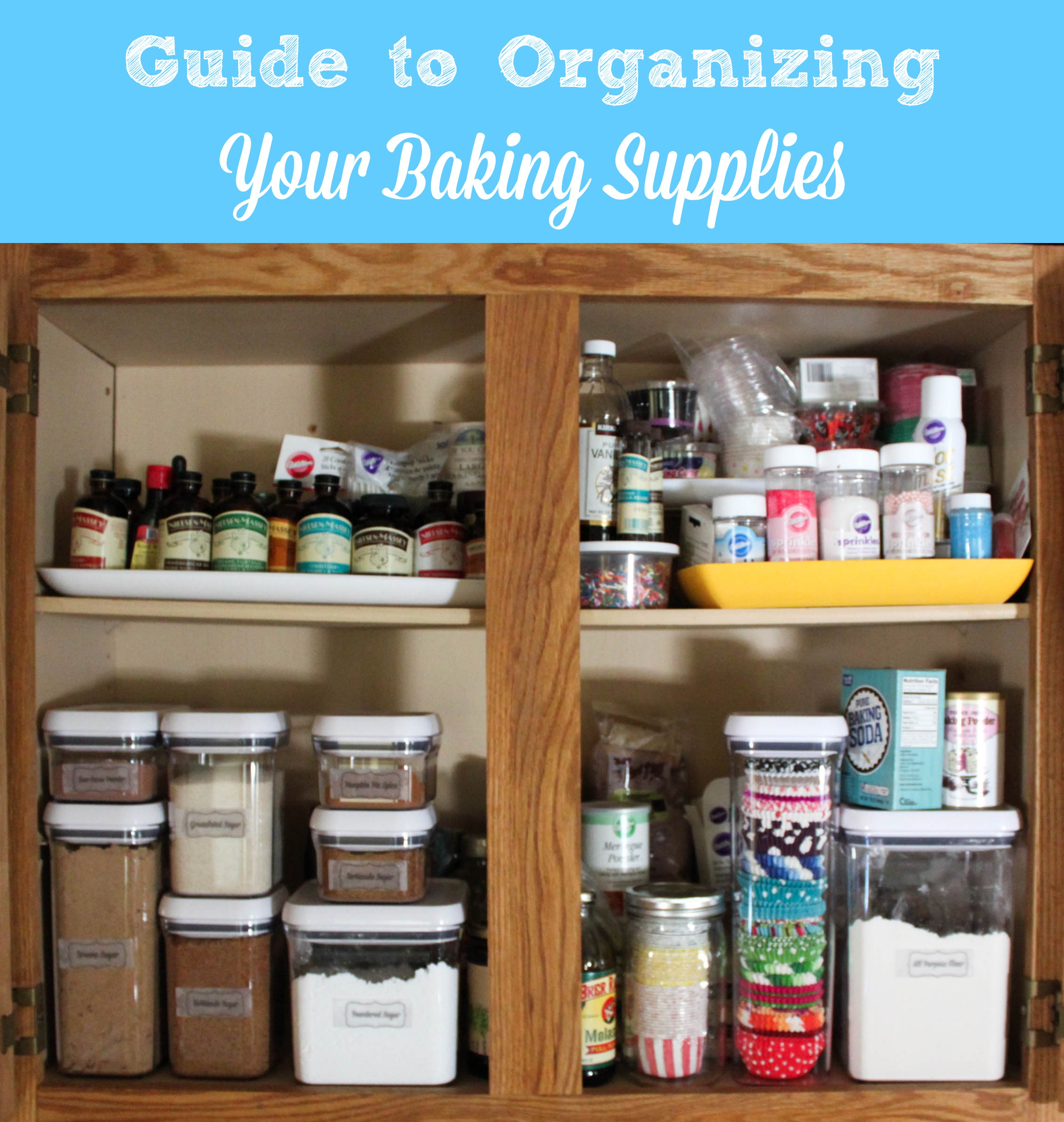 Learn how to organize your baking supplies