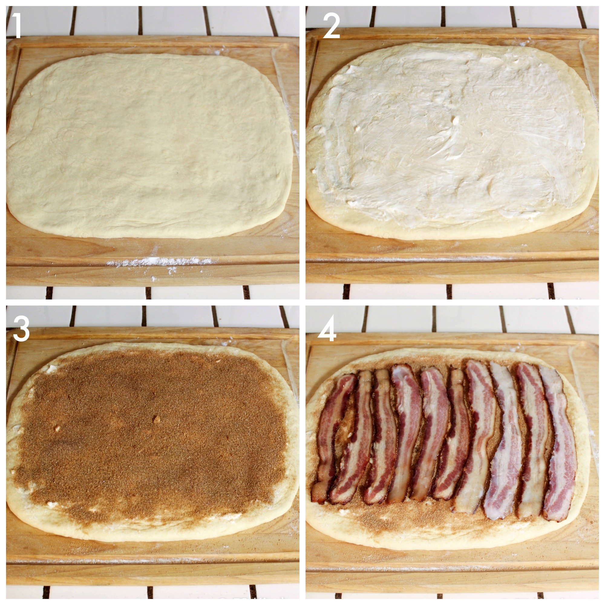 How to make Maple Bacon Cinnamon Rolls - filling