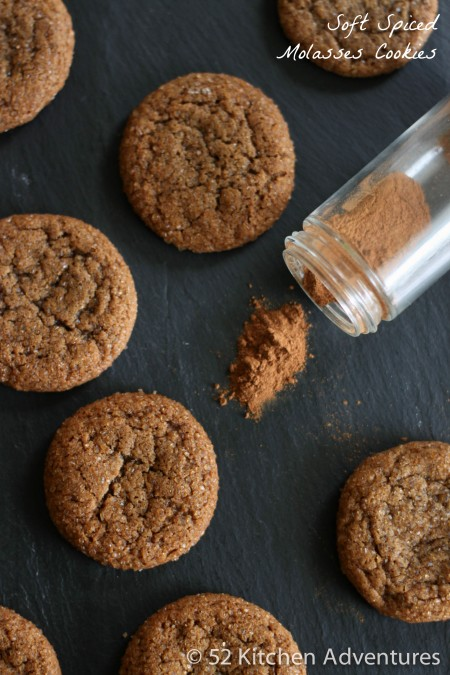 Soft Spiced Molasses Cookies