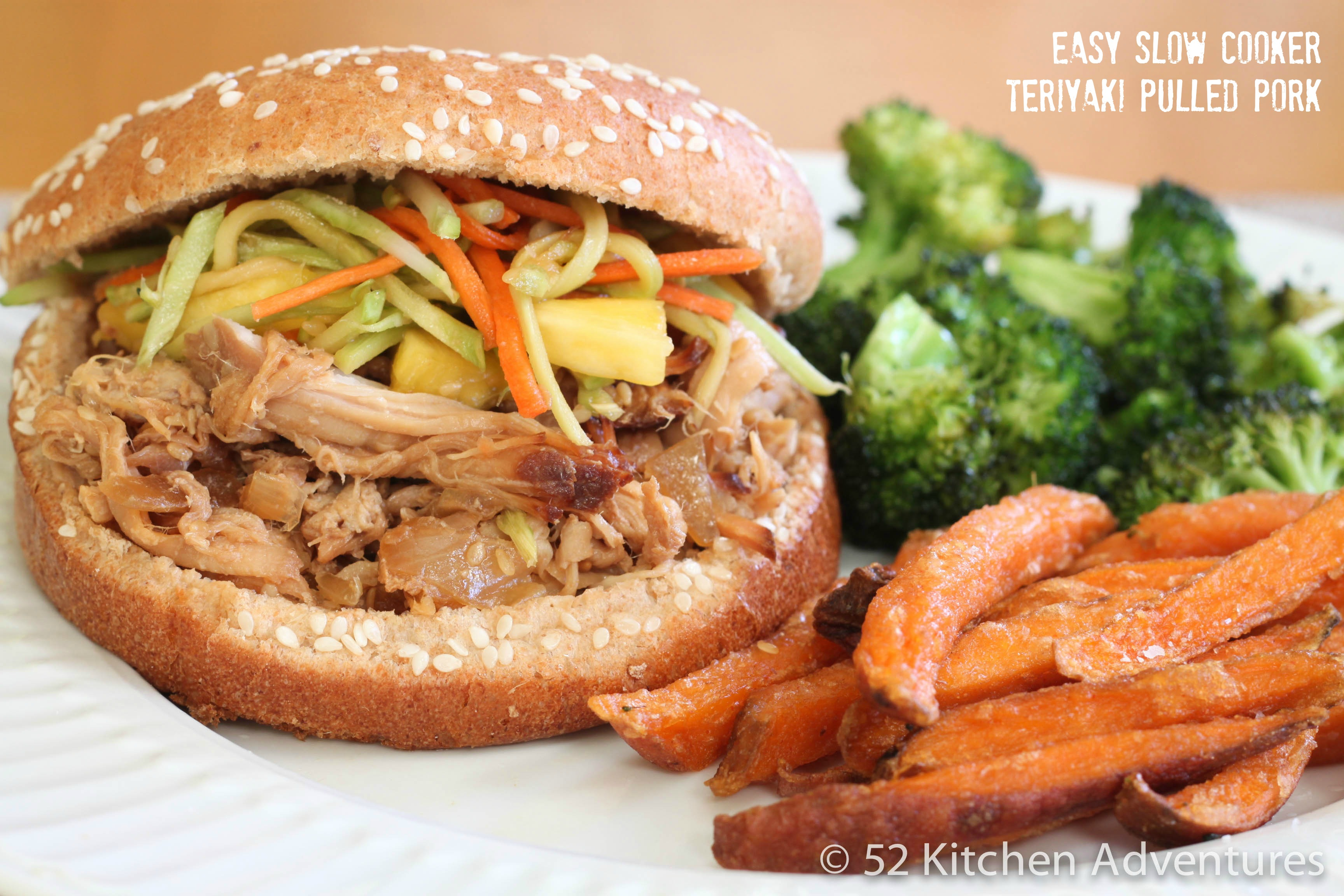 Easy Slow Cooker Teriyaki Pulled Pork