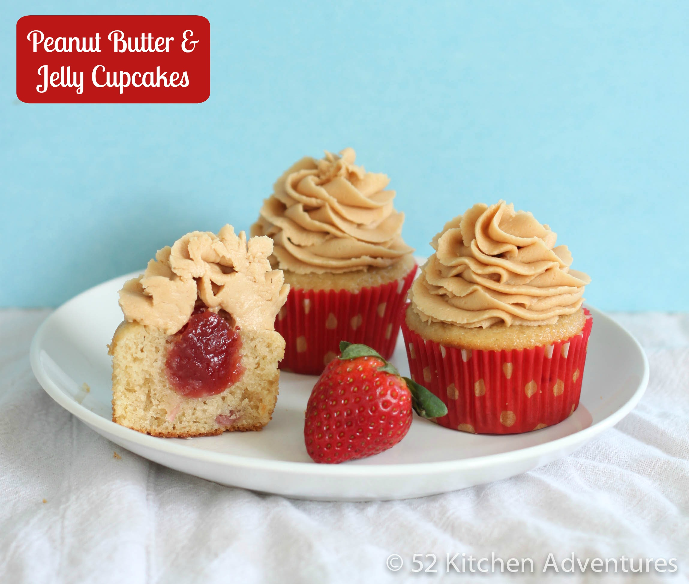 peanut butter and jam cupcakes