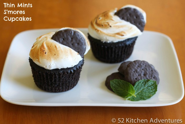 Thin Mint S'mores Cupcakes