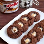 Nutella Marshmallow Cookies