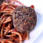 Spaghetti with Hearty Vegan Meatballs