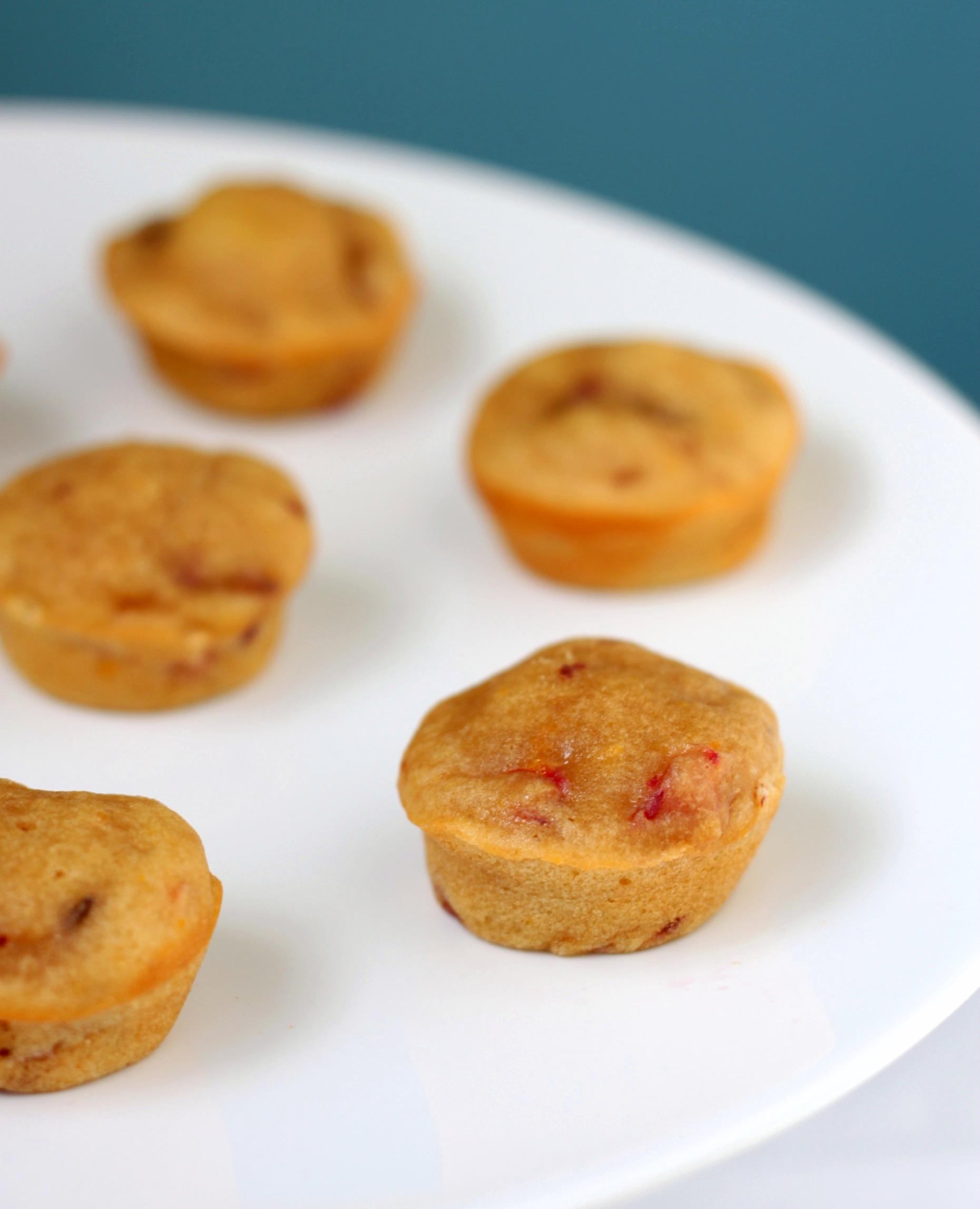 Blood orange mini muffins
