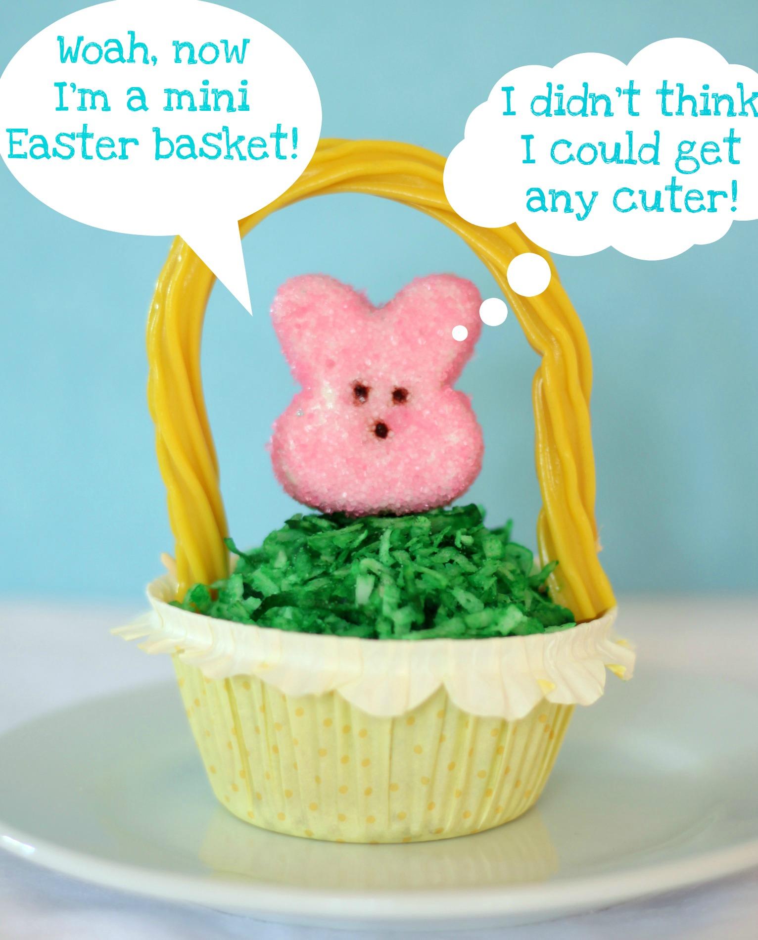 Easter basket peeps cupcake cuter