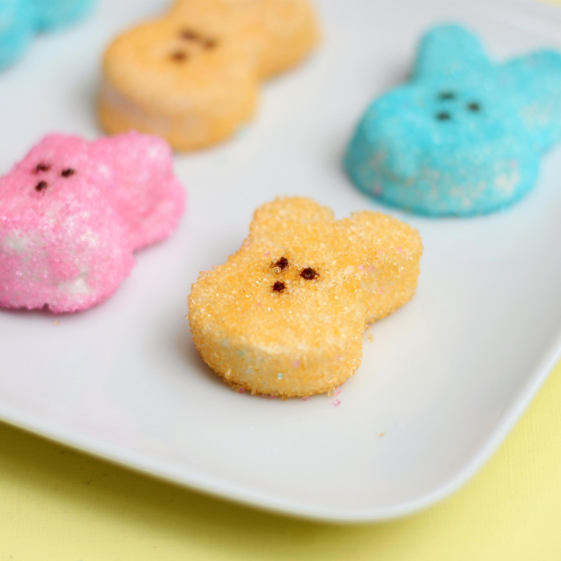 Homemade marshmallow peeps 3 square
