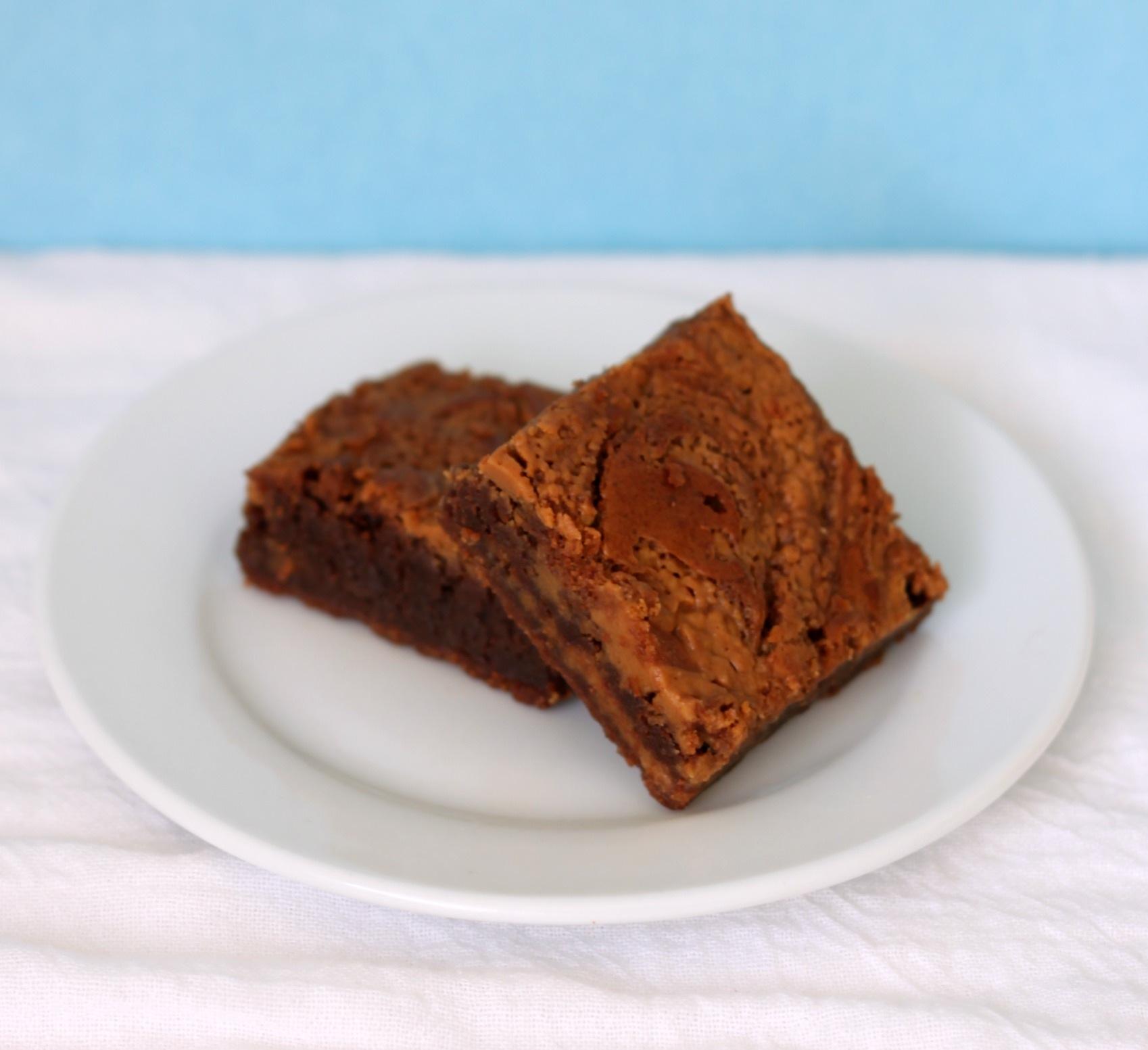 Nutella peanut butter brownies 3