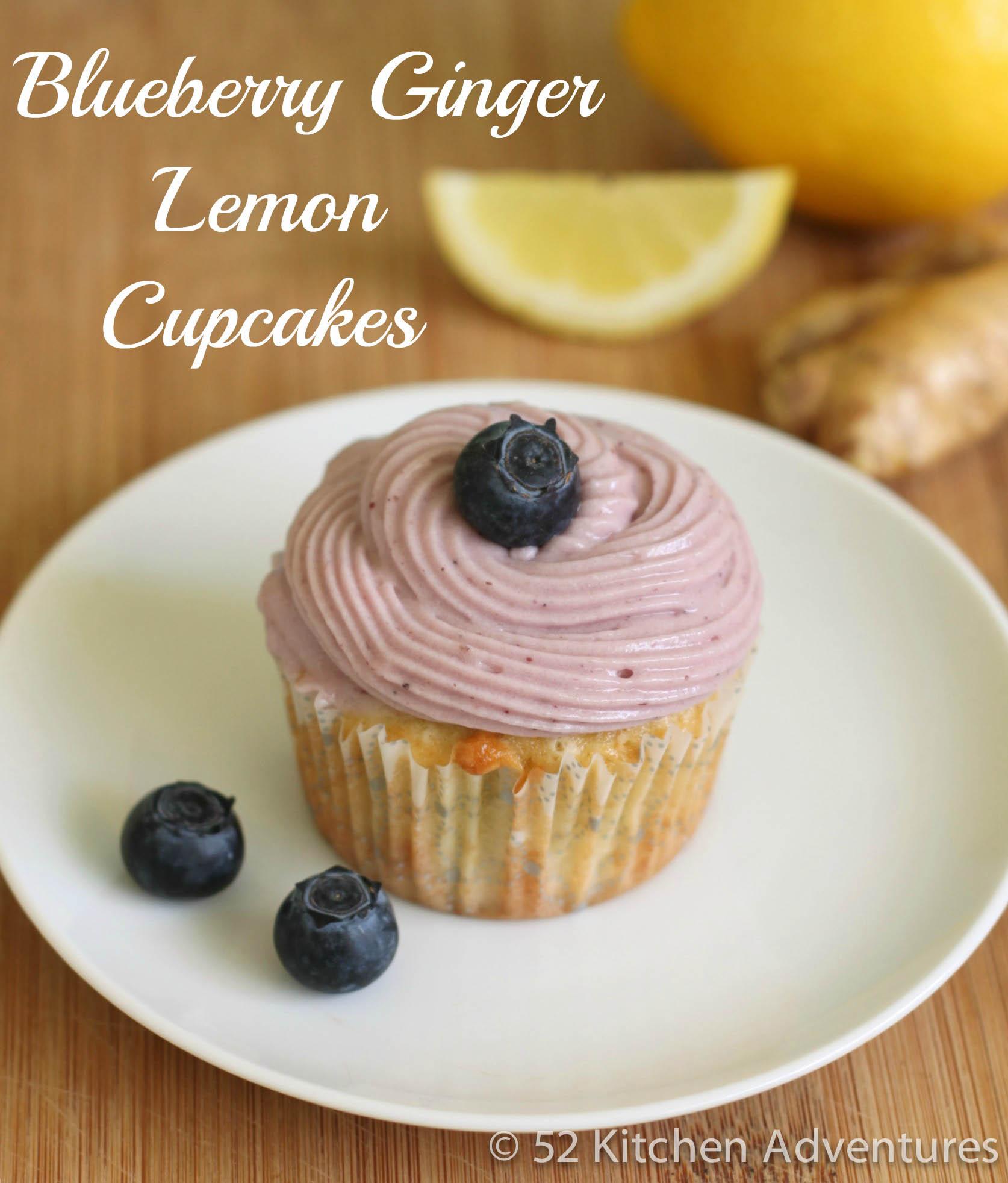 Blueberry Ginger Lemon Cupcakes