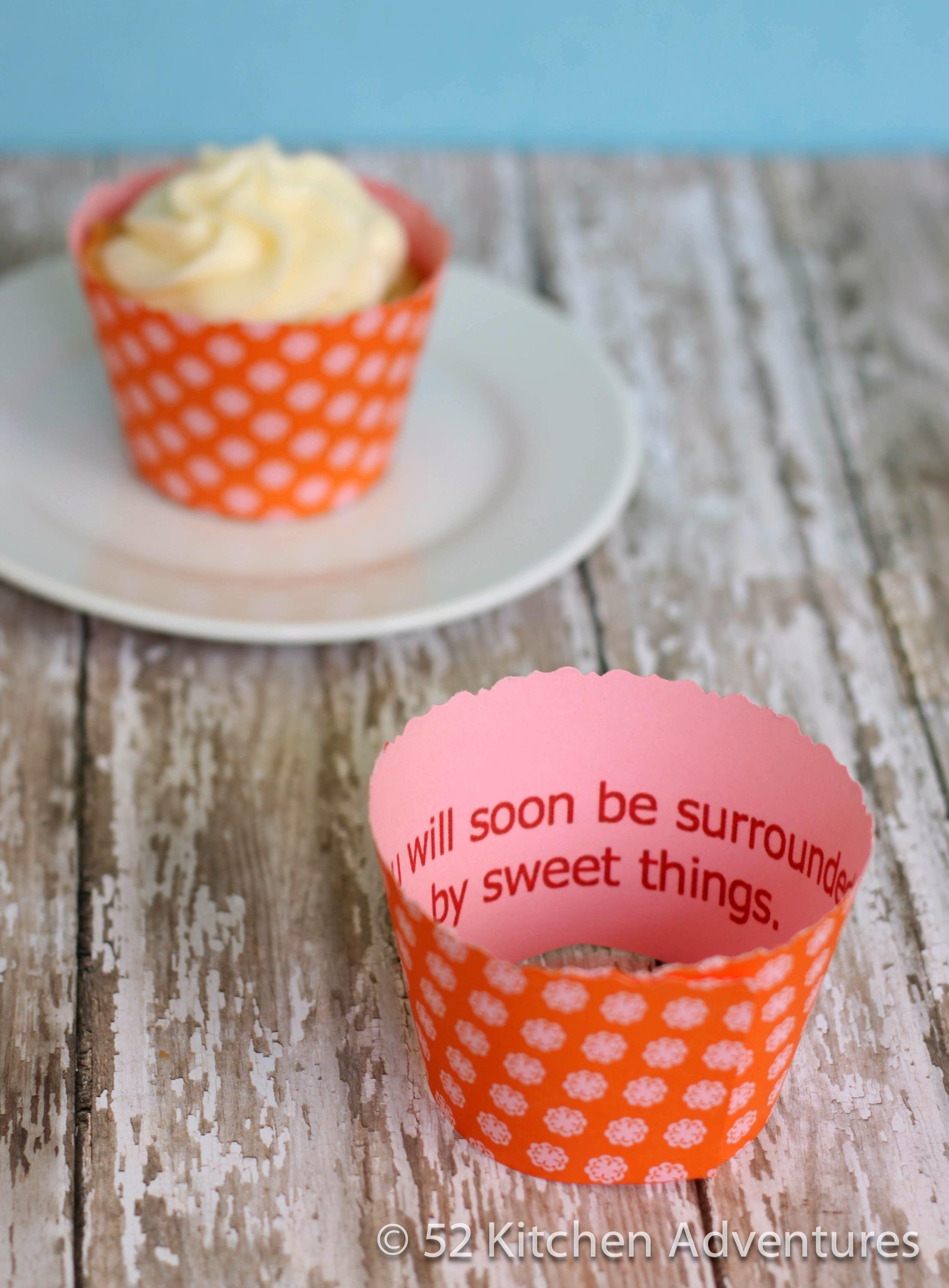 Fortune Cupcake Wrapper – peek inside