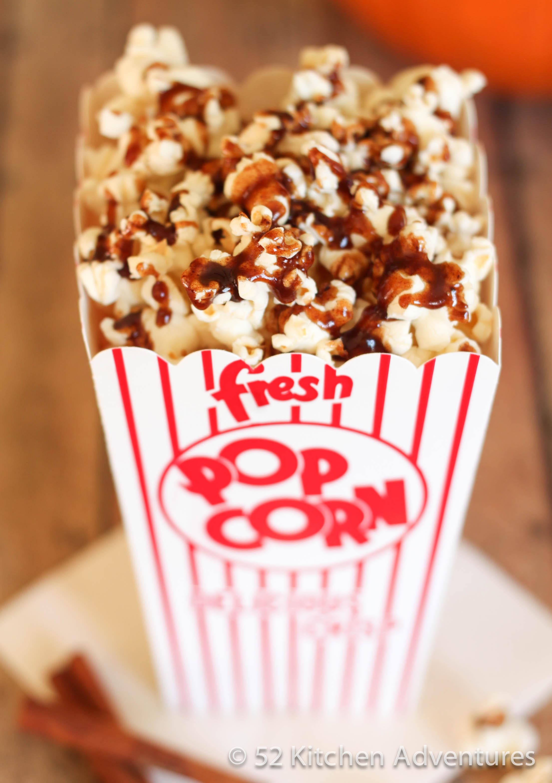 Fall Spiced Popcorn close up