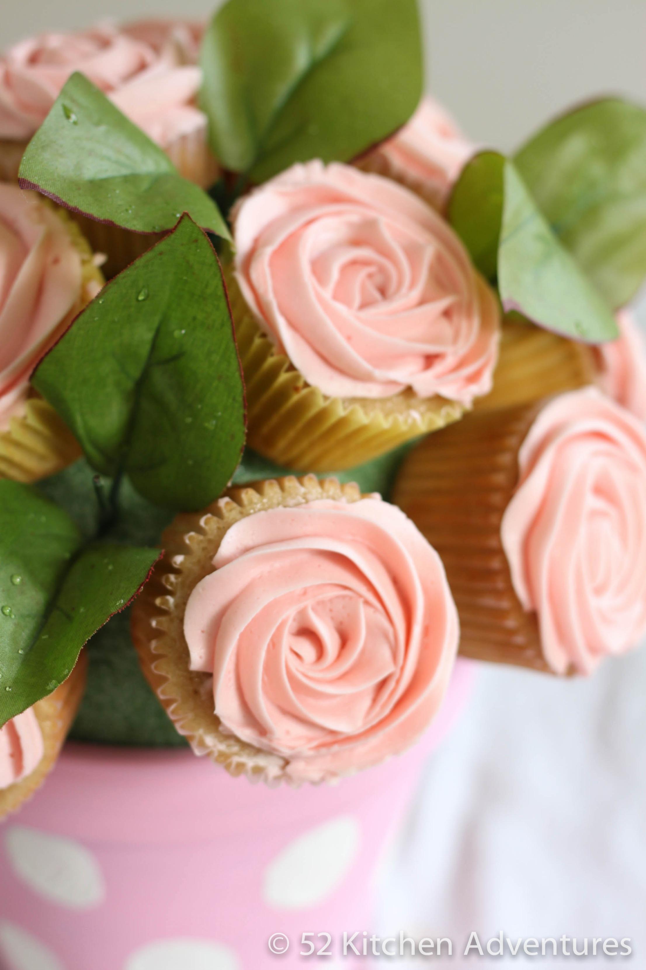 Pink Rose Cupcake Bouquet