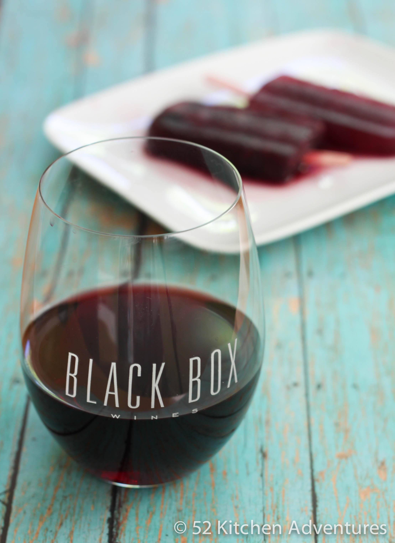 Pomegranate Merlot Popsicles with Black Box wine