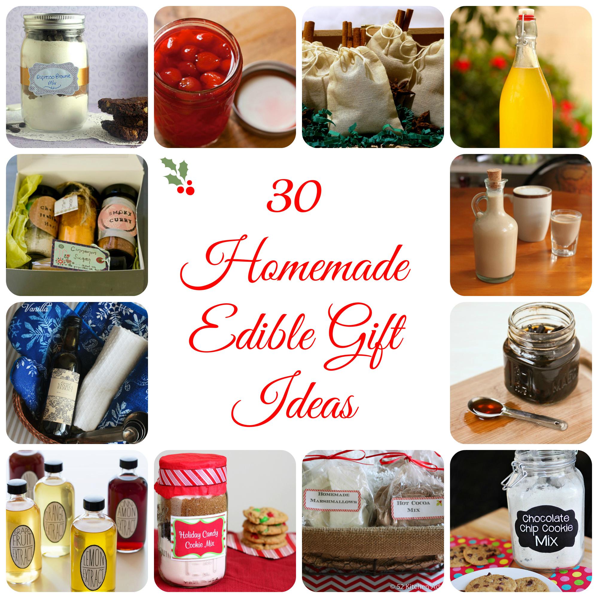 30 Homemade Edible Gift Ideas