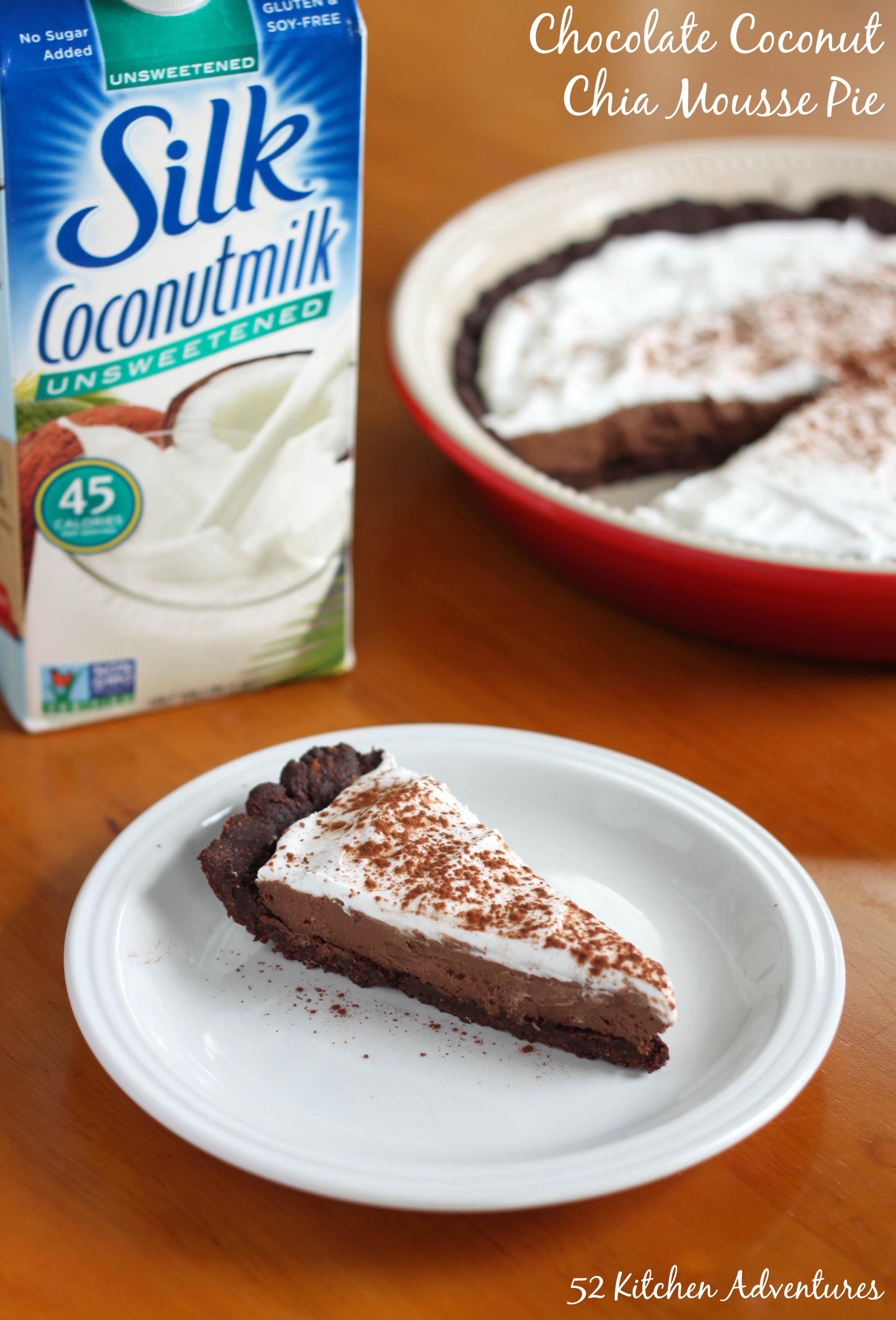 Chocolate Coconut Chia Mousse Pie (Vegan & Grain Free)