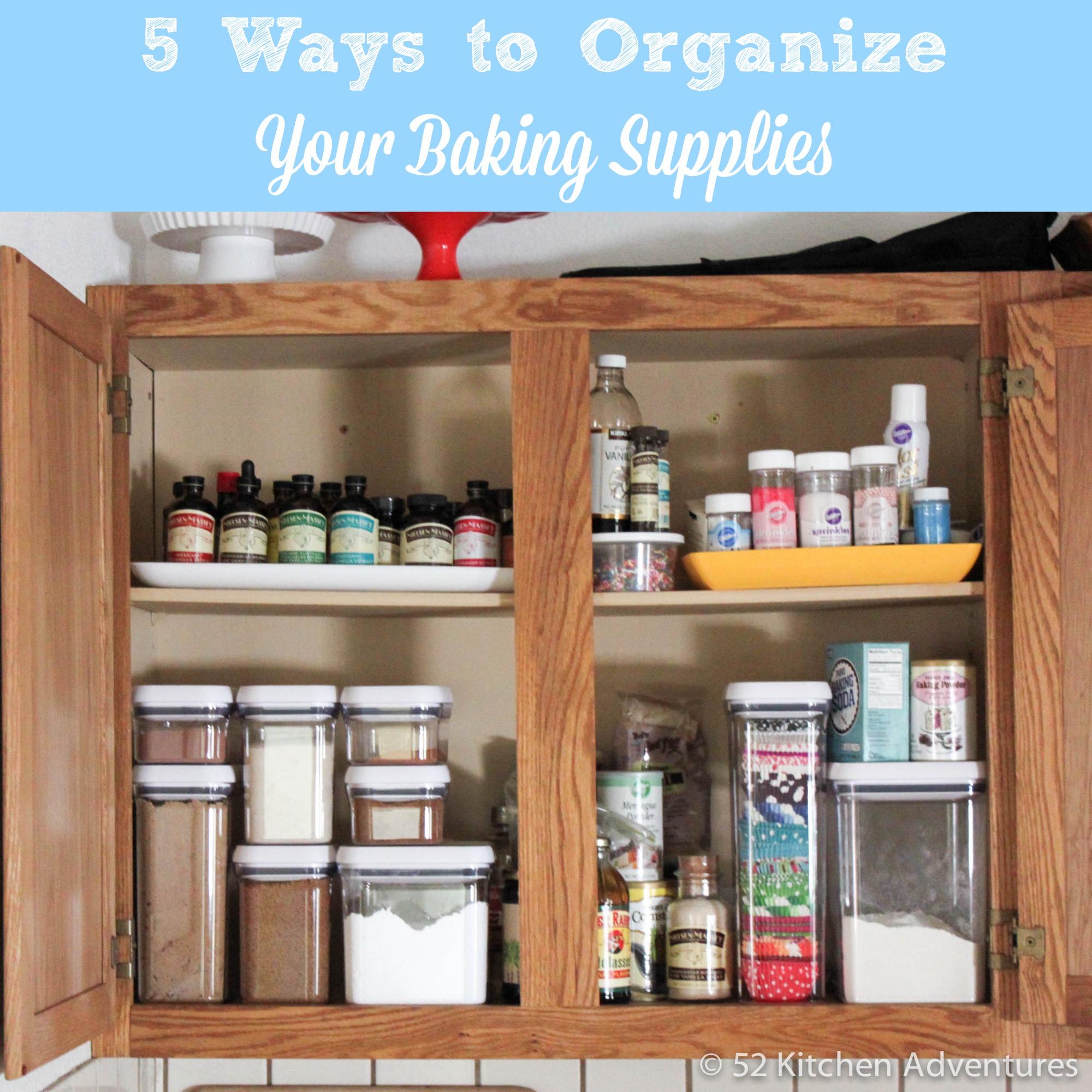 5 Ways to Organize Your Baking Supplies